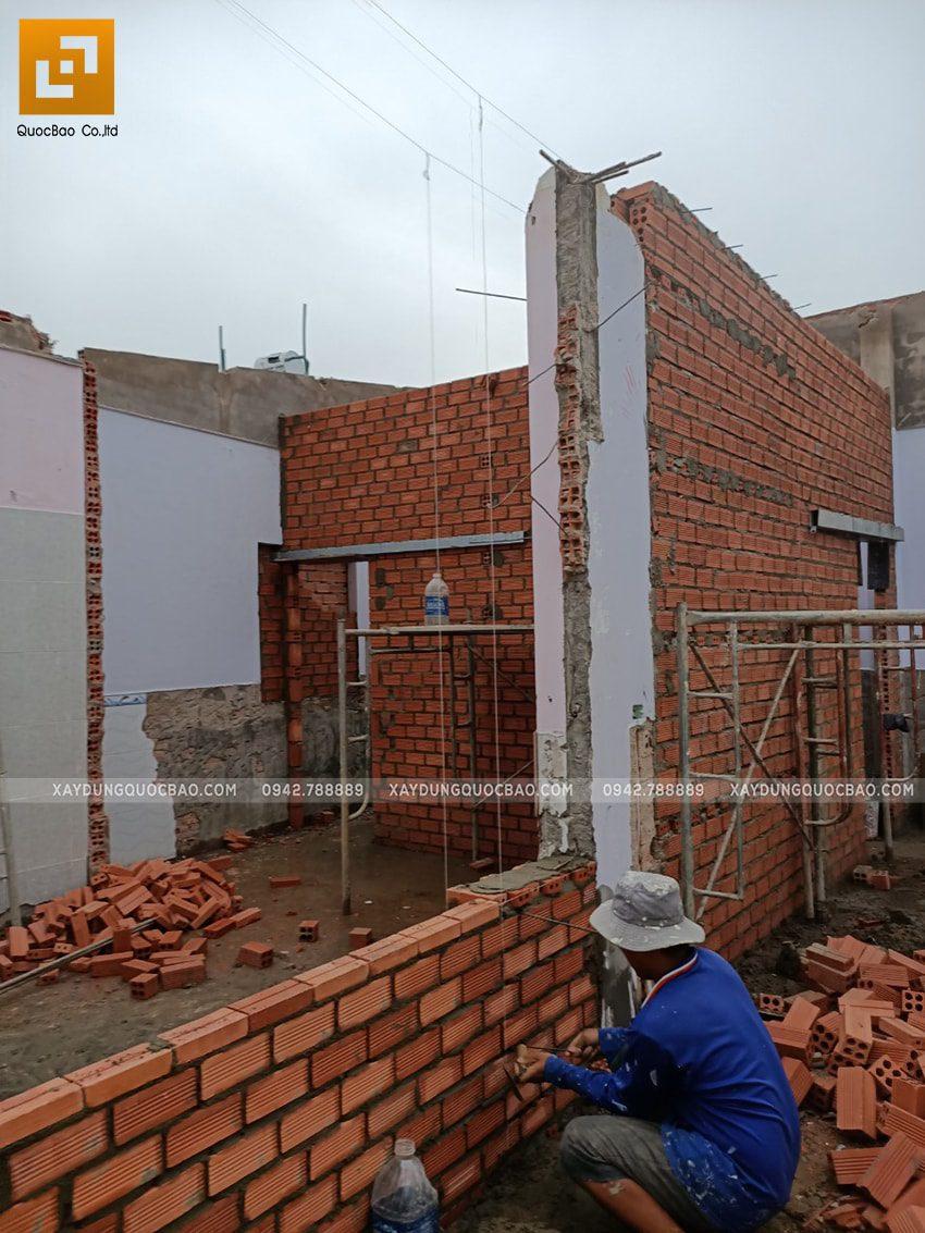 Xây tường ngăn giữa các phòng - Ảnh 1