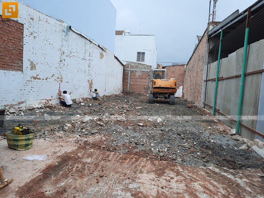 Khởi công nhà mái lệch 2 tầng gia đình anh Huy - Ảnh 7