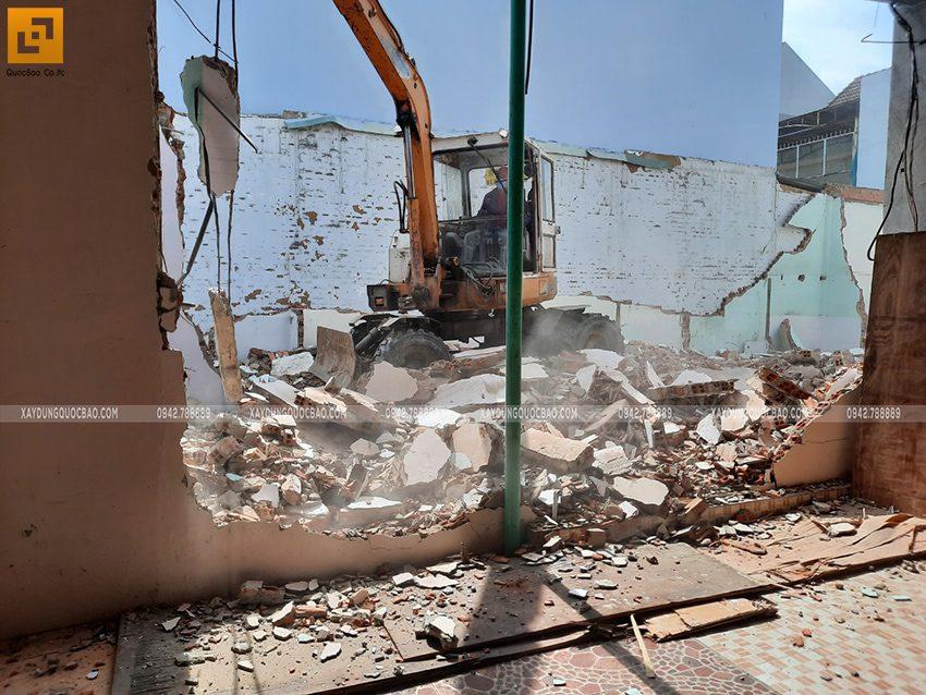 Khởi công nhà mái lệch 2 tầng gia đình anh Huy - Ảnh 4