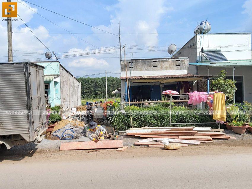 Thi công móng nhà 3 tầng chị Thư và anh Trí tại Vĩnh Cửu - Ảnh 4