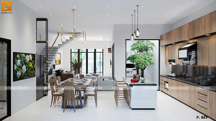 Thiết kế phòng bếp sử dụng nội thất cao cấp