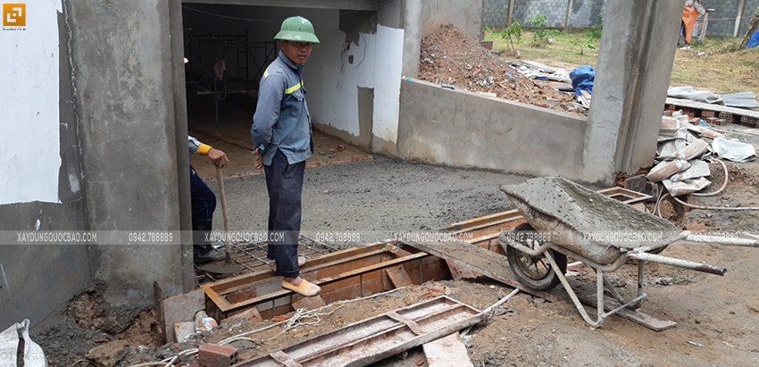 Đổ bê tông tầng hầm - Ảnh 2