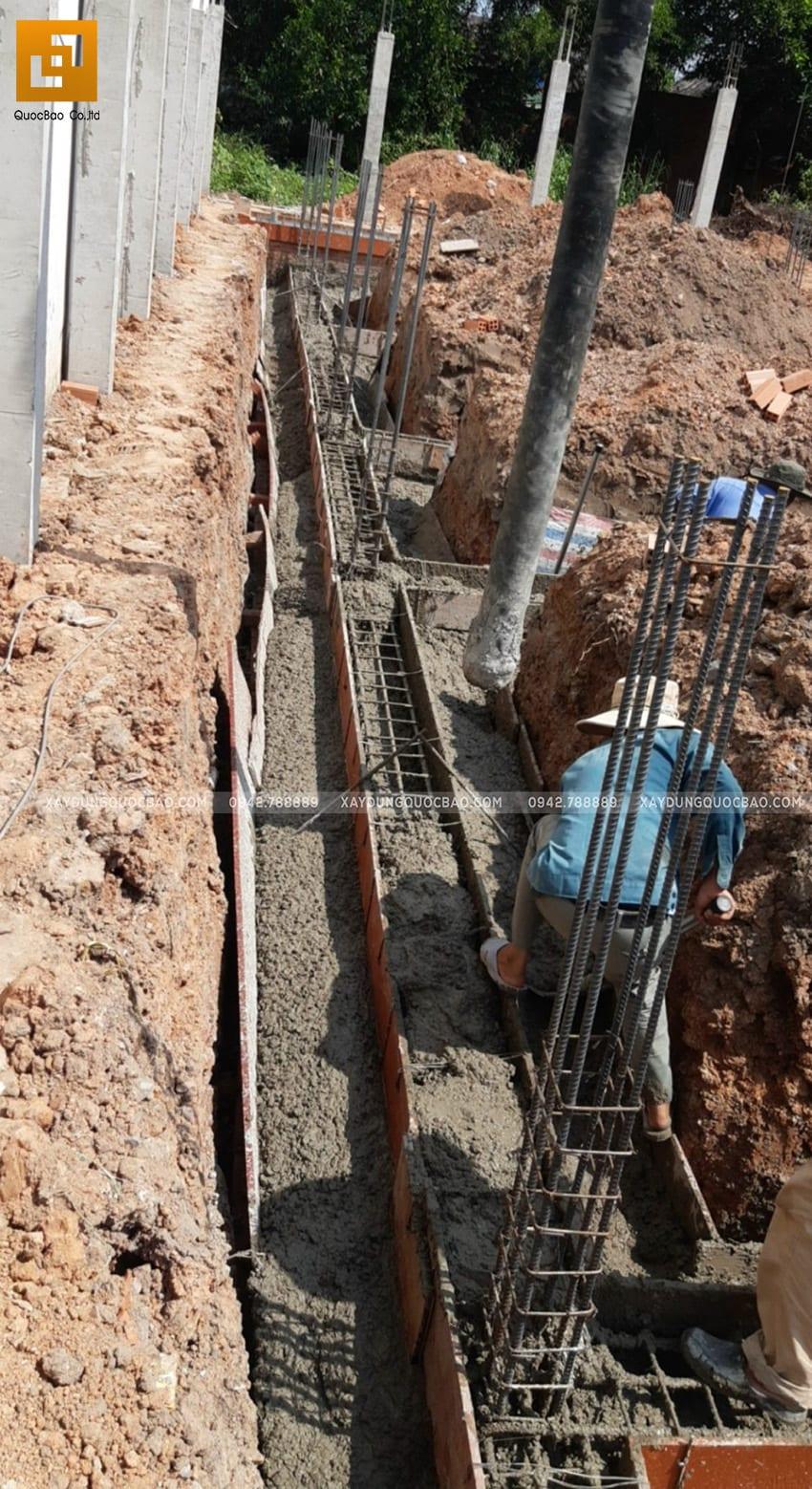 Thi công phần móng nhà 2 tầng tại Long Thành - Ảnh 10