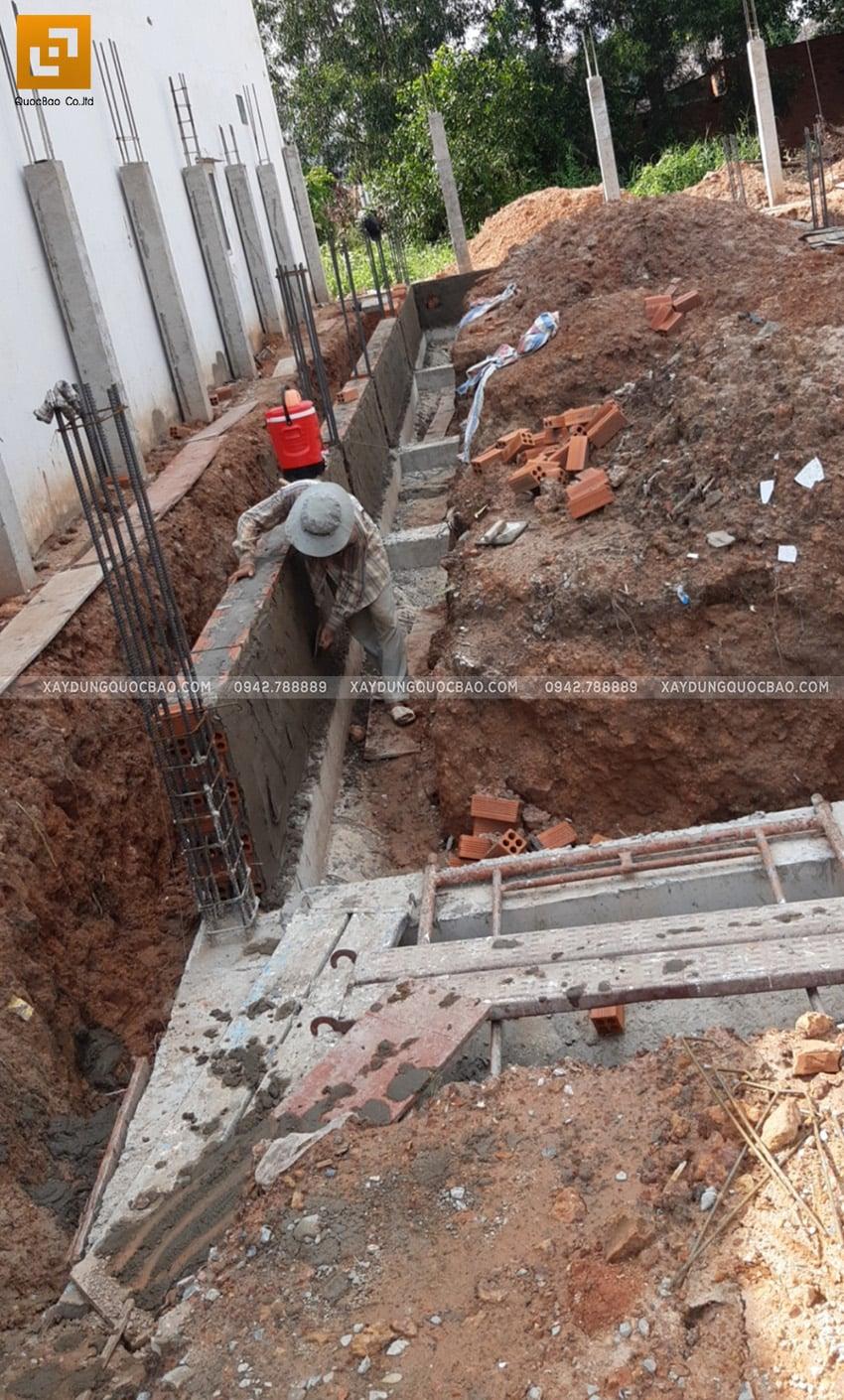 Thi công phần móng nhà 2 tầng tại Long Thành - Ảnh 13