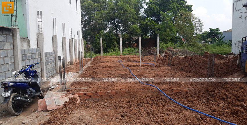 Thi công phần móng nhà 2 tầng tại Long Thành - Ảnh 14