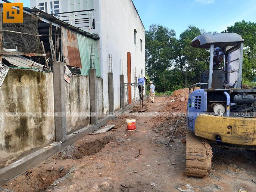 Thi công phần móng nhà 2 tầng tại Long Thành - Ảnh 2