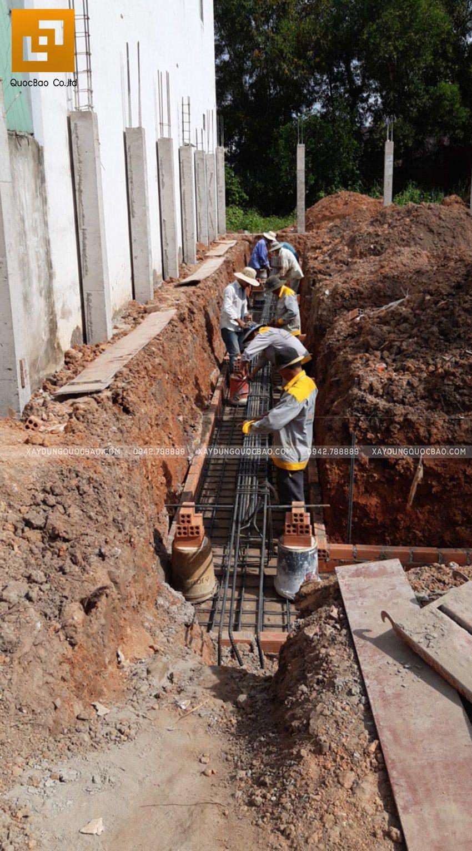 Thi công phần móng nhà 2 tầng tại Long Thành - Ảnh 7