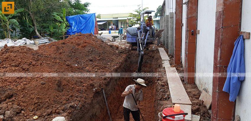 Thi công phần móng nhà 2 tầng tại Long Thành - Ảnh 3