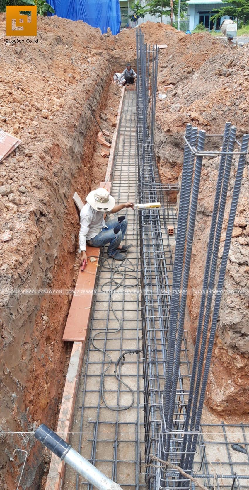Thi công phần móng nhà 2 tầng tại Long Thành - Ảnh 6