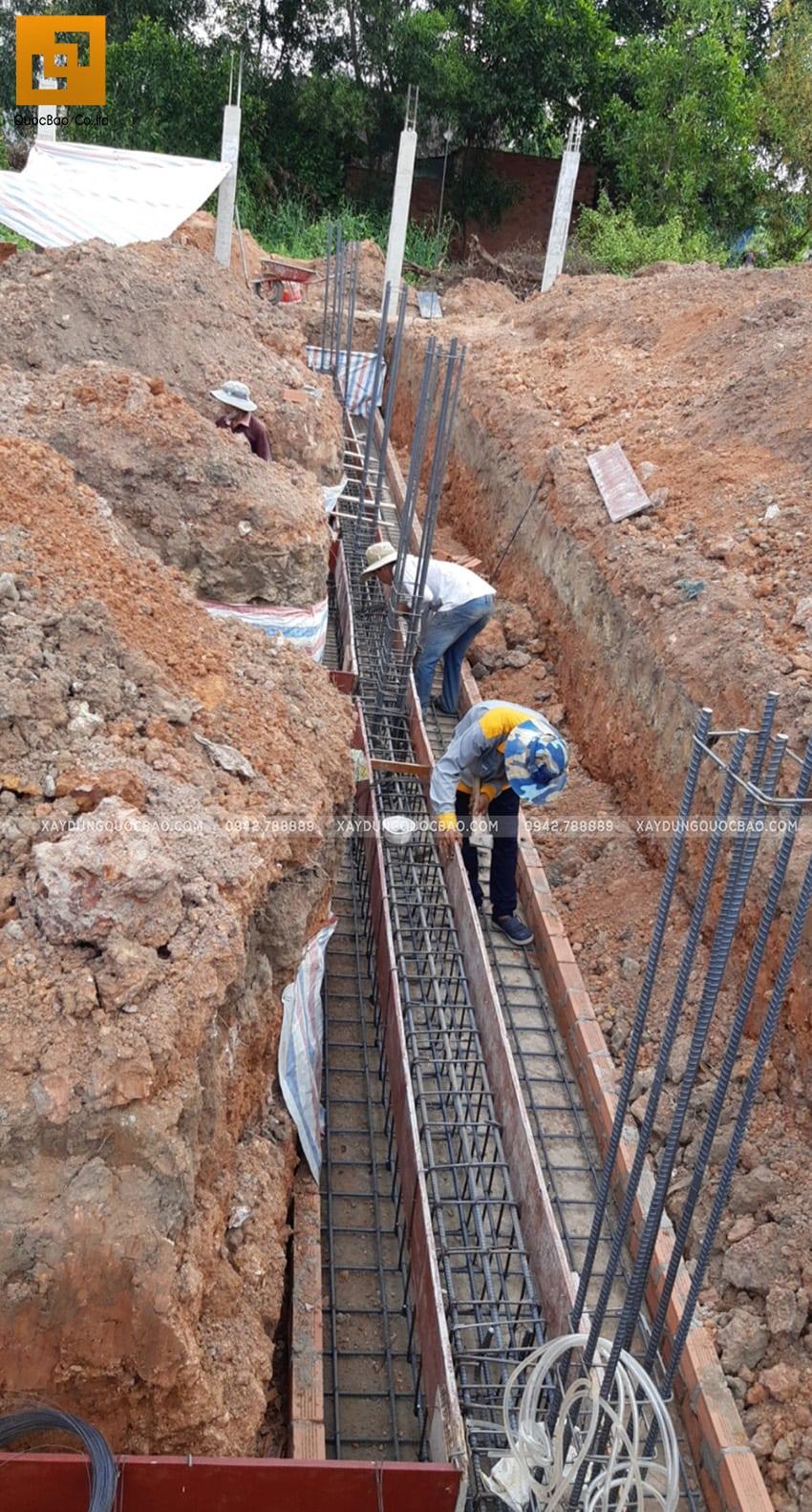 Thi công phần móng nhà 2 tầng tại Long Thành - Ảnh 8