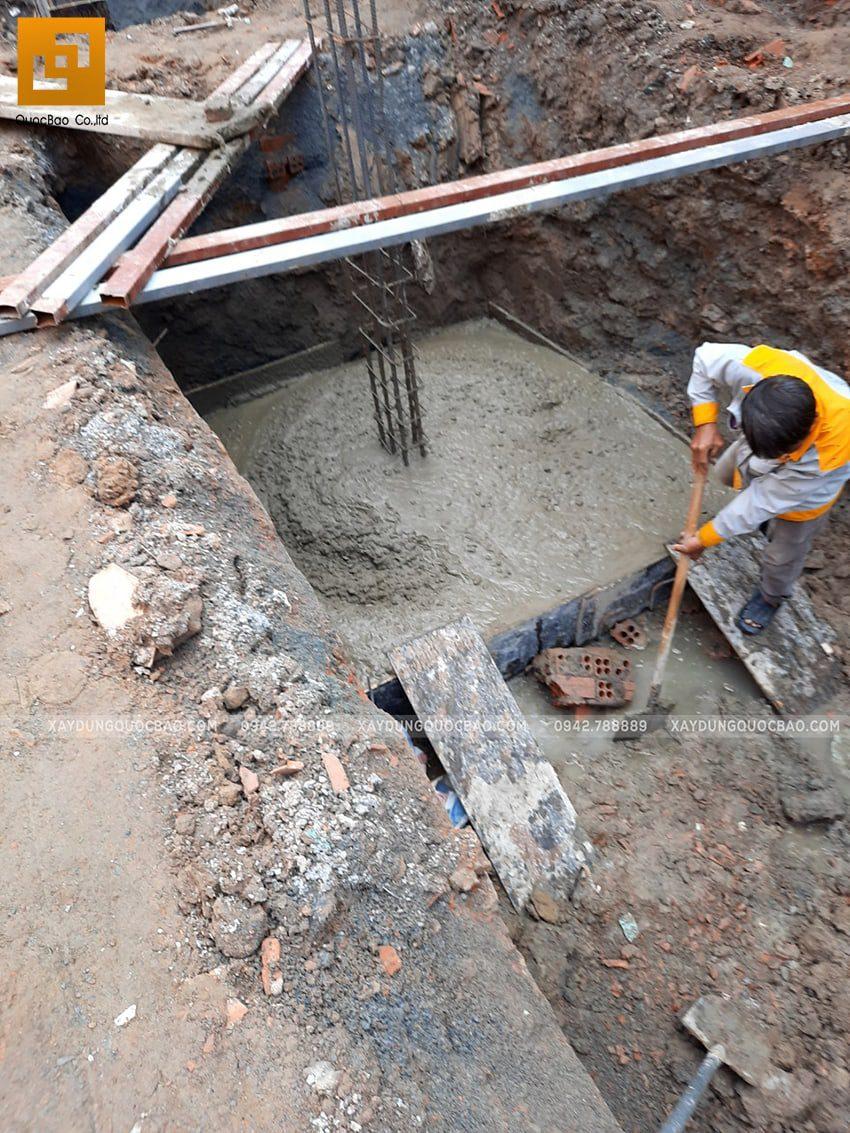 Thi công phần móng nhà 2 tầng mái chéo - Ảnh 5
