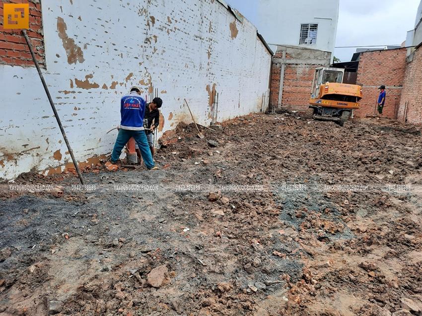 Thi công phần móng nhà 2 tầng mái chéo - Ảnh 7