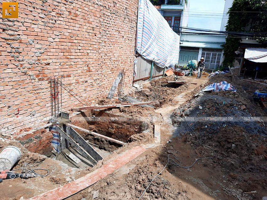 Thi công phần móng nhà 2 tầng mái chéo - Ảnh 3