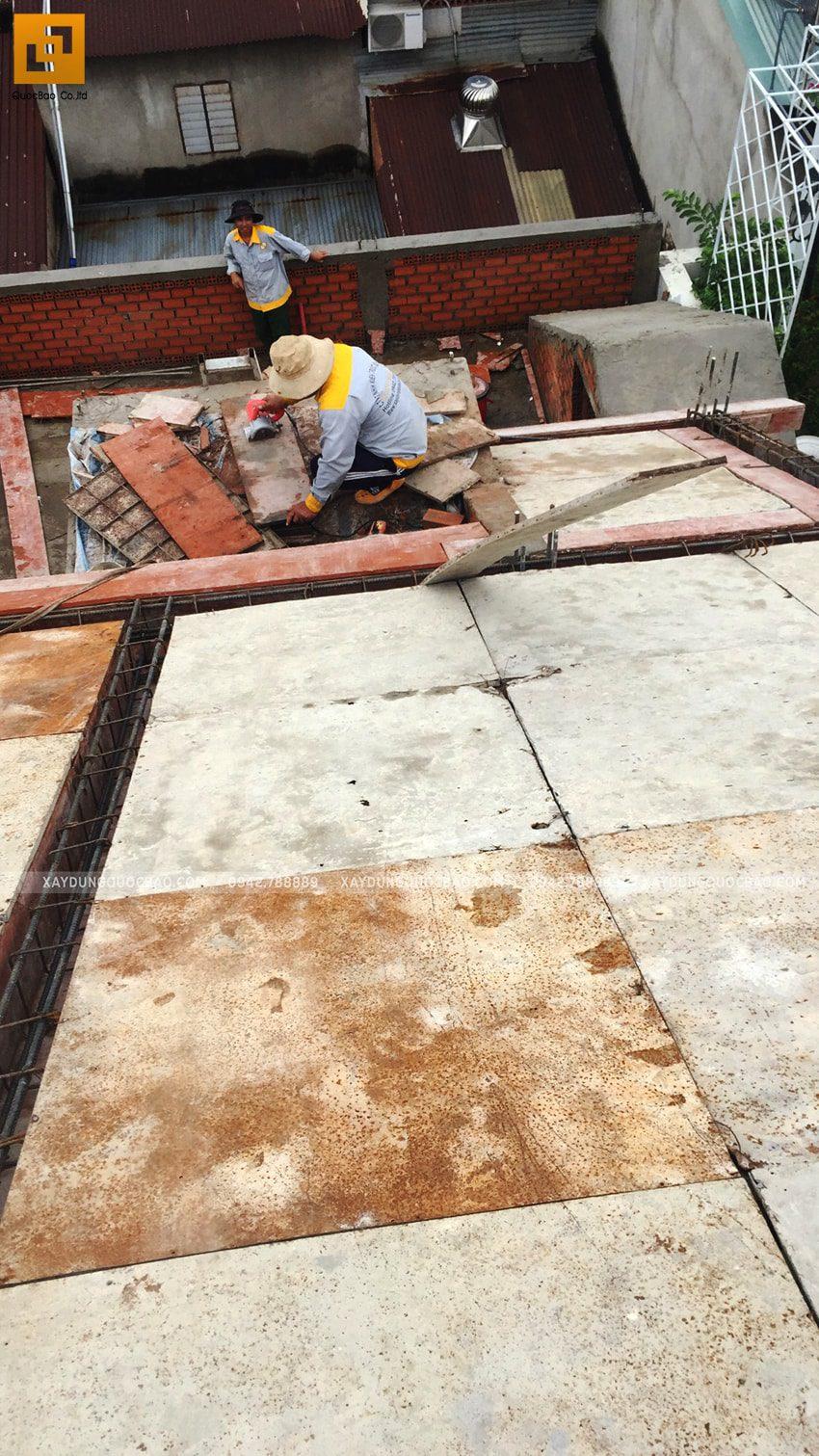 Tiến độ thi công nhà 3 tầng tại Biên Hòa - Ảnh 2