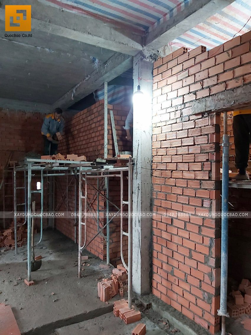 Tiến độ thi công nhà 3 tầng tại Biên Hòa - Ảnh 9