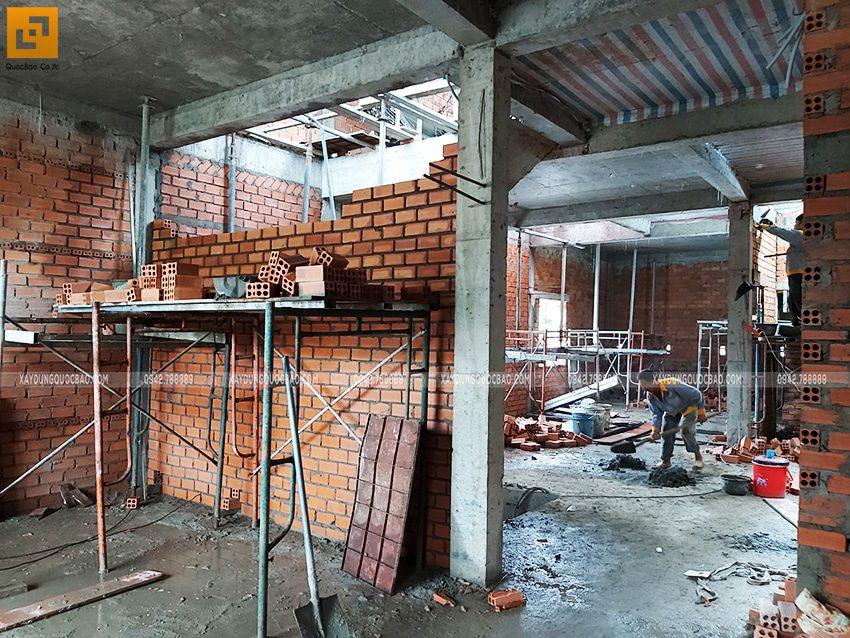 Tiến độ thi công nhà 3 tầng tại Biên Hòa - Ảnh 6