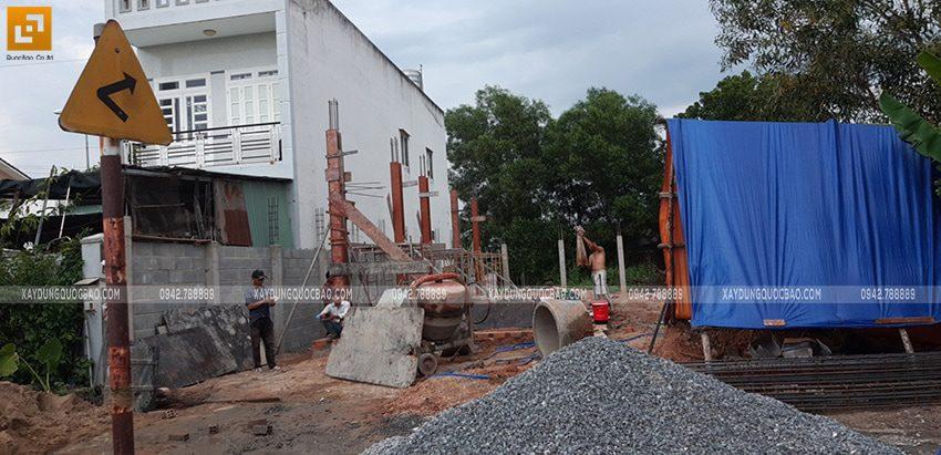 Thi công phần móng nhà 2 tầng tại Long Thành - Ảnh 15