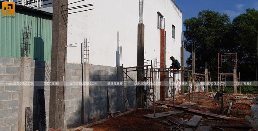 Thi công phần móng nhà 2 tầng tại Long Thành - Ảnh 17