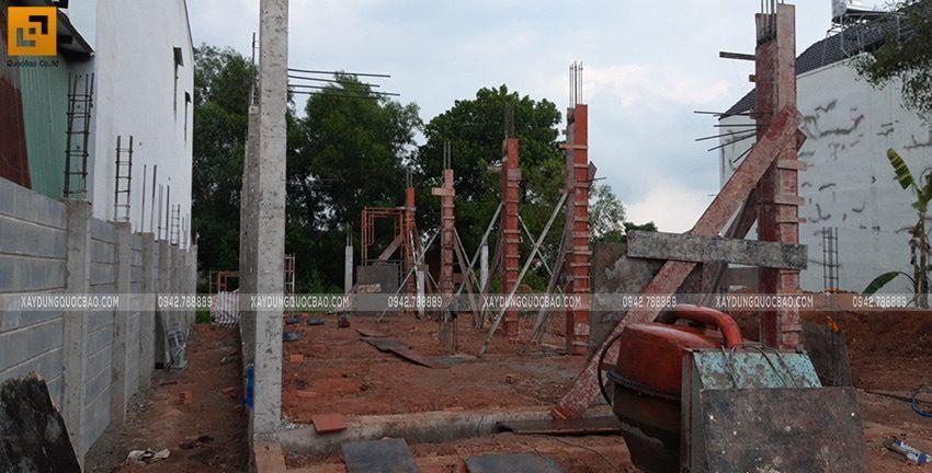 Thi công phần móng nhà 2 tầng tại Long Thành - Ảnh 16