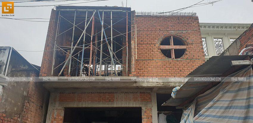 Thi công lắp đặt dầm dàn cốt thép lầu 1 - Ảnh 4