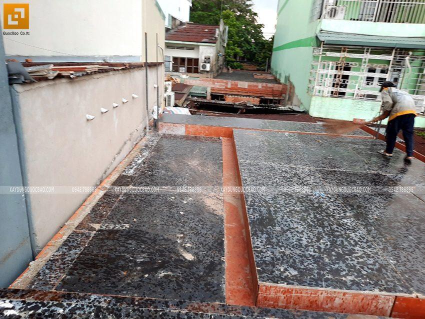 Lắp đặt ván cofa dầm, sàn lầu 1 nhà anh Hùng - Ảnh 6