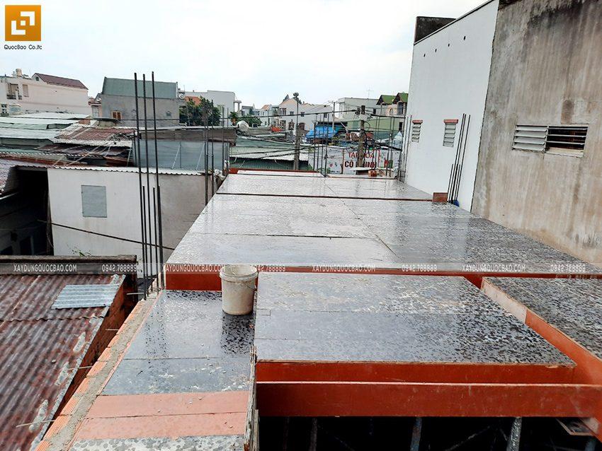 Lắp đặt ván cofa dầm, sàn lầu 1 nhà anh Hùng - Ảnh 5