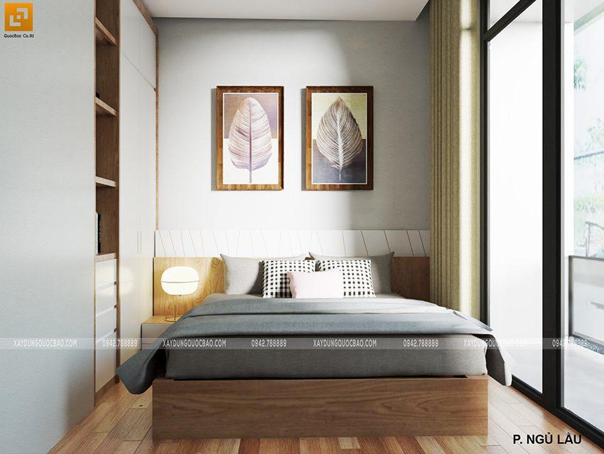 Phối cảnh nội thất phòng ngủ hiện đại