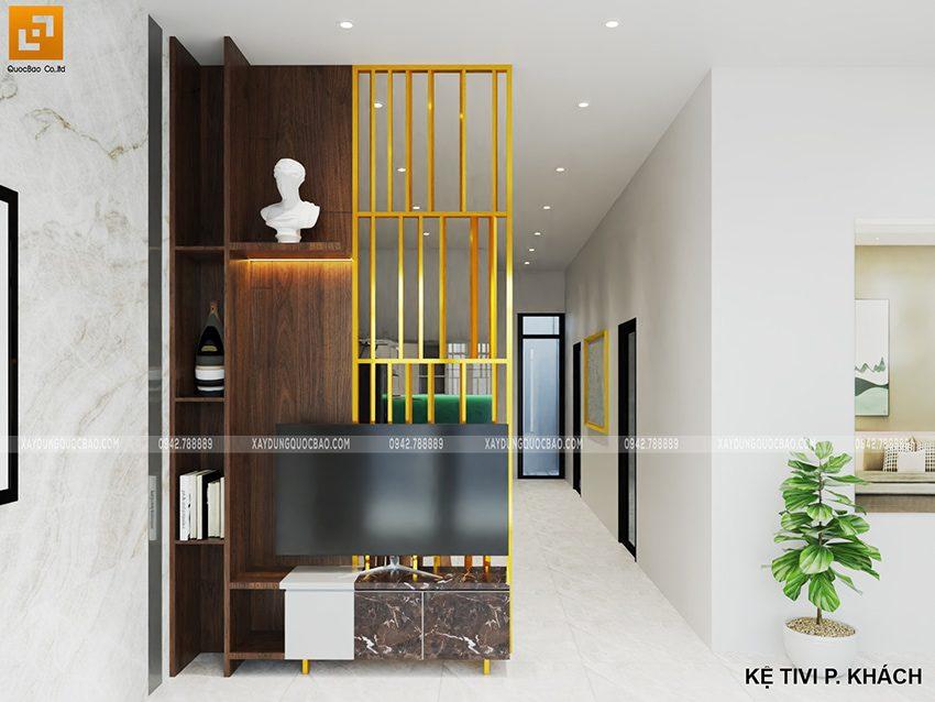 Thiết kế phòng khách mẫu nhà 2 tầng mặt tiền 7m