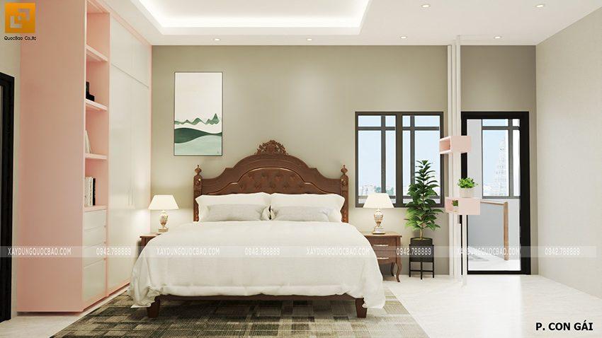 Thiết kế phòng ngủ cho con gái mẫu nhà mặt tiền 7m
