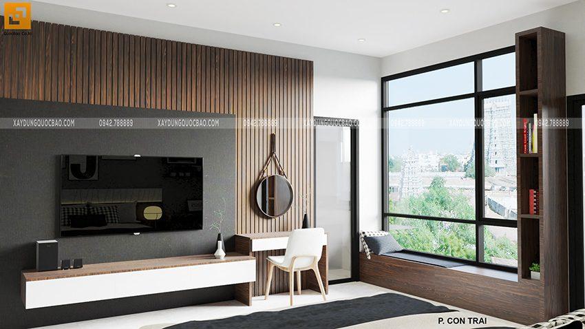 Thiết kế phòng ngủ cho con trai mẫu nhà mặt tiền 7m