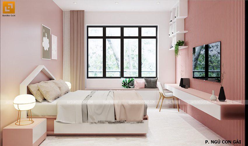 Thiết kế phòng ngủ dành cho con gái
