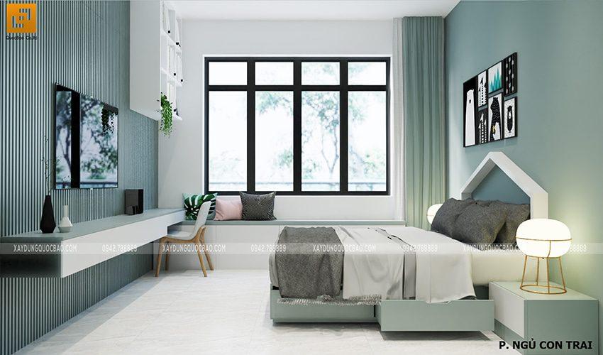 Thiết kế phòng ngủ dành cho con trai
