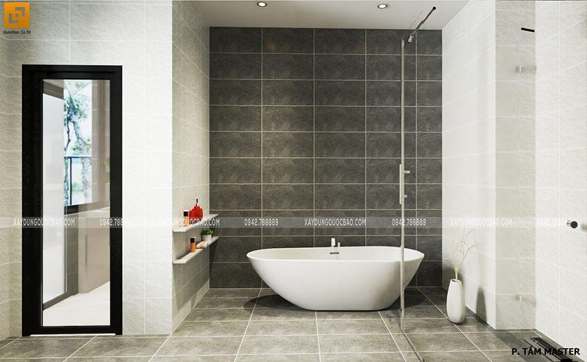 Bồn tắm nằm trong phòng tắm master