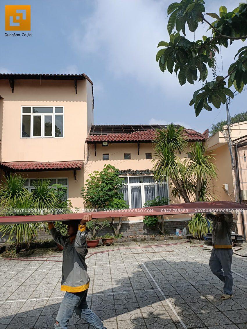 Khởi công biệt thự phố 2 tầng gia đình anh Trình - Ảnh 1
