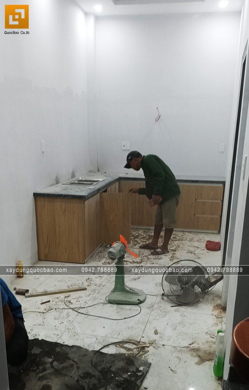 Thi công hoàn thiện nhà 3 tầng chị Phương - Ảnh 3