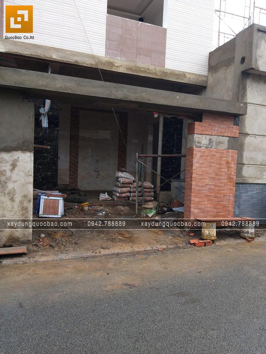Thi công phần hoàn thiện nhà 3 tầng - Ảnh 7