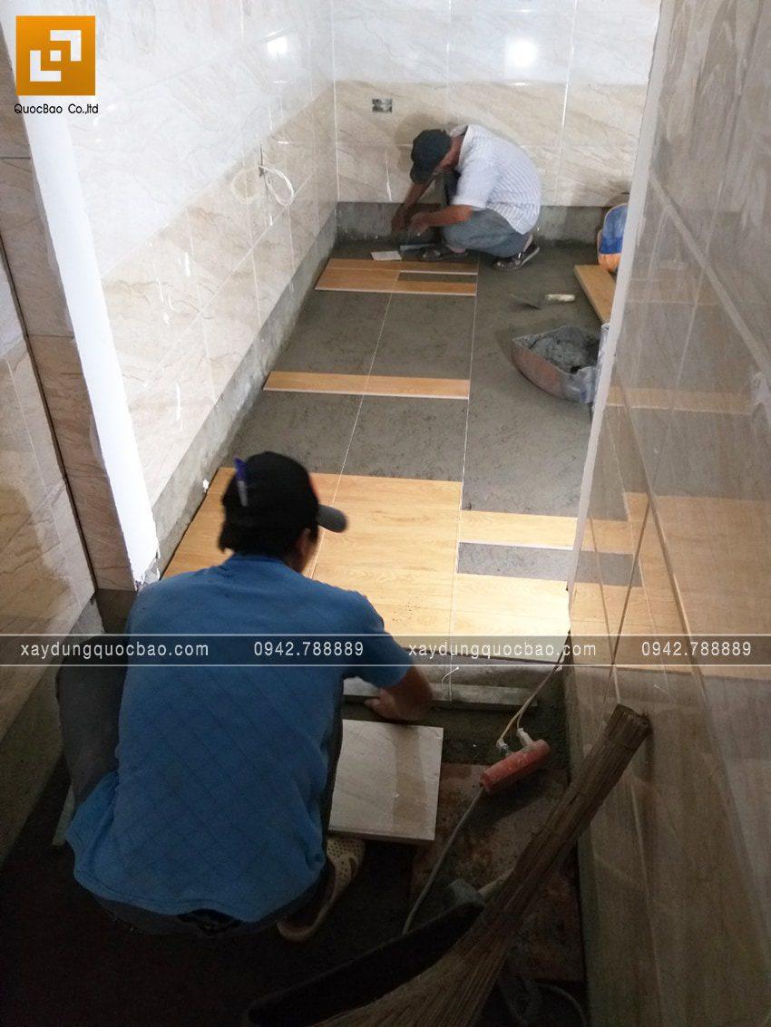 Thi công phần hoàn thiện nhà 3 tầng - Ảnh 6