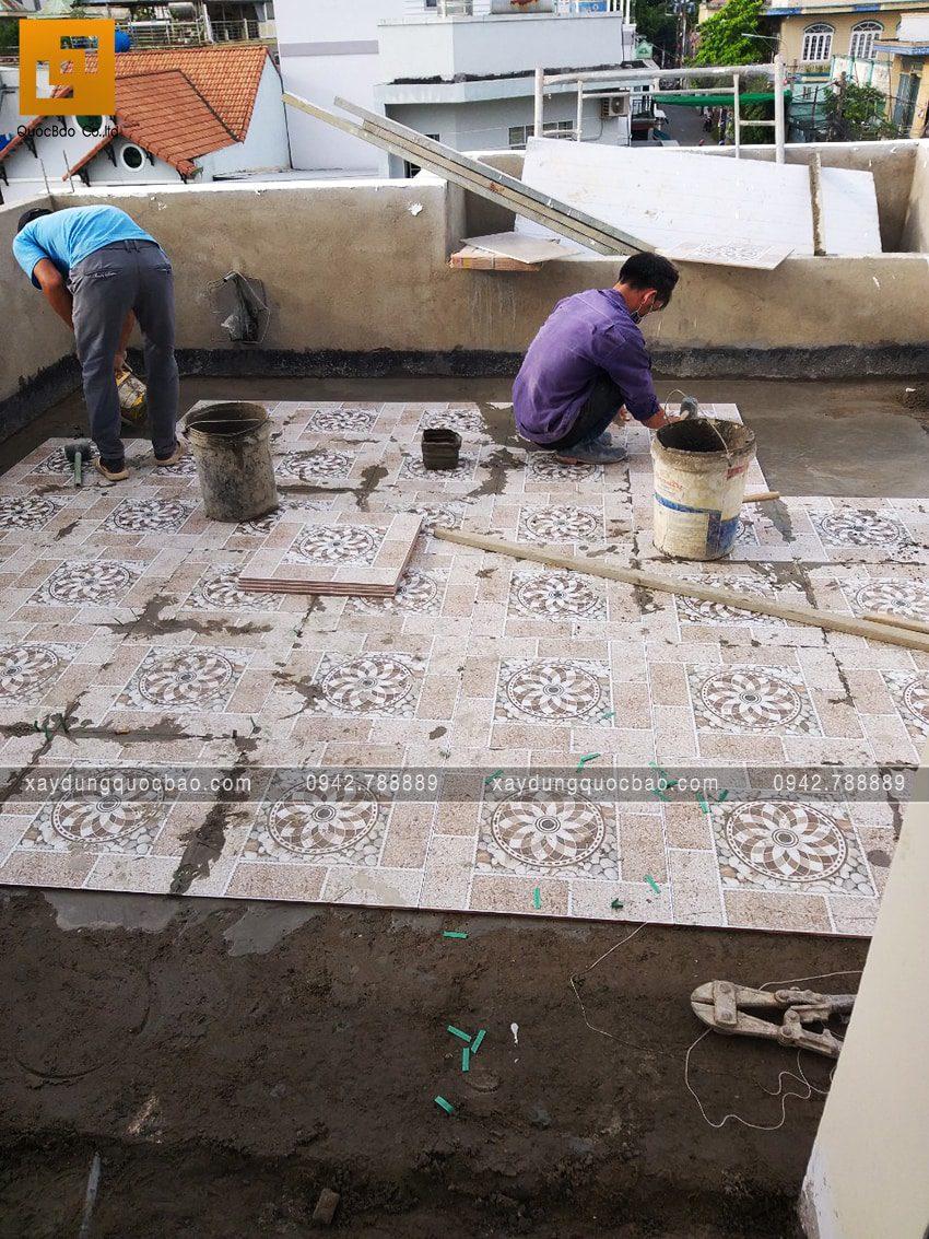 Thi công phần hoàn thiện nhà 3 tầng - Ảnh 3