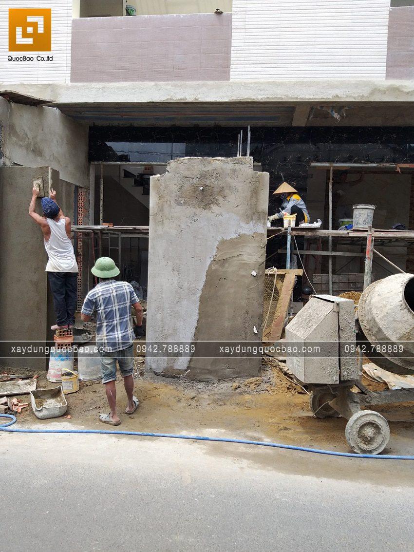 Thi công phần hoàn thiện nhà 3 tầng - Ảnh 1