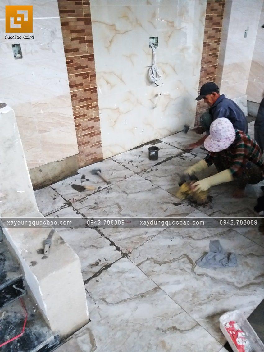 Thi công phần hoàn thiện nhà 3 tầng - Ảnh 10