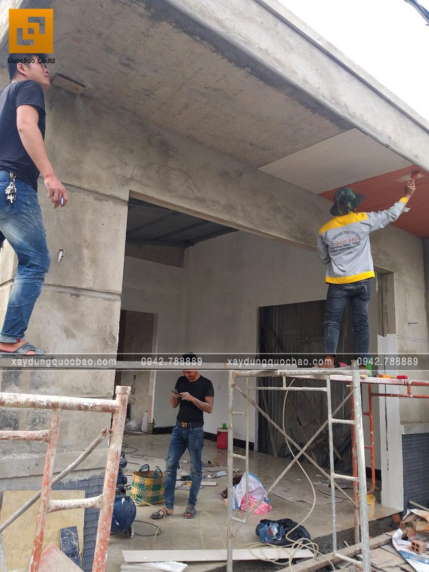 Thi công phần hoàn thiện nhà 3 tầng - Ảnh 8