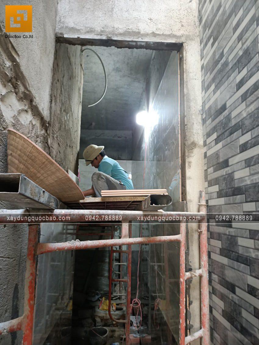 Công tác ốp lát gạch các phòng trong nhà - Ảnh 3