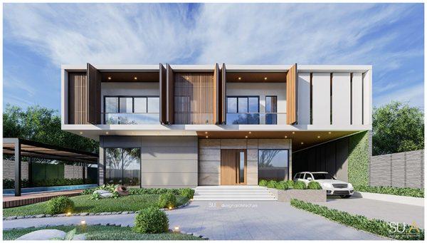 Thiết kế biệt thự phố 2 tầng tràn ngập sắc xanh của gia đình anh Trình