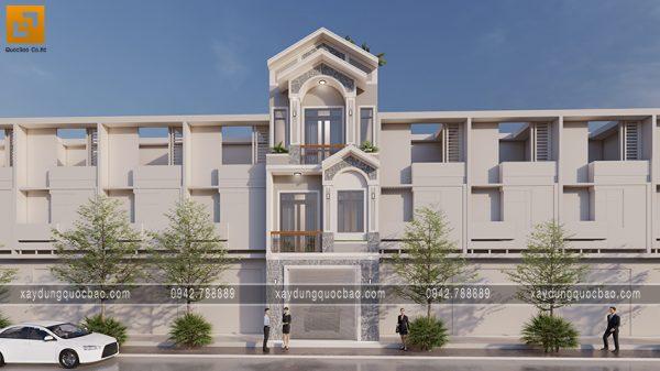 Thiết kế nhà 2 mặt tiền mái thái giả đẹp có mặt tiền 5m của gia đình anh Thức