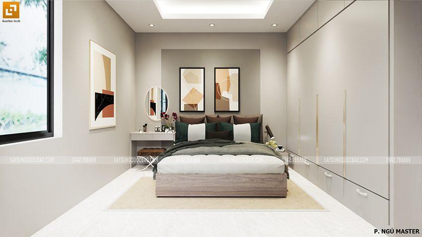 Phối cảnh nội thất phòng ngủ master của chủ nhân căn nhà