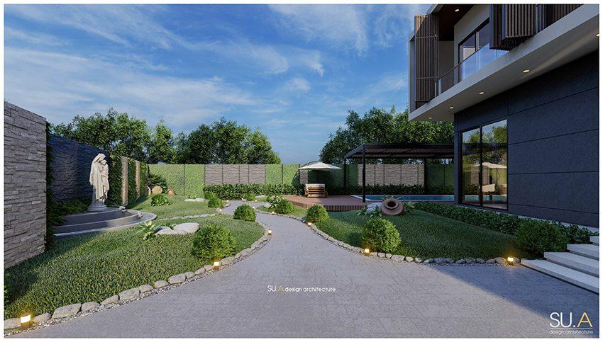 Sự hòa quyện của cây xanh trong kiến trúc nhà phố đem đến môi trường sống trong lành cho gia chủ