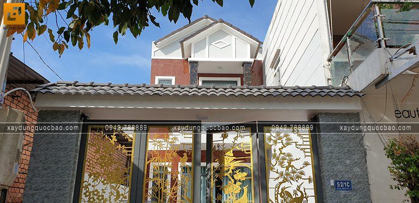Bàn giao nhà mái thái 2 tầng cho gia đình chị Dung tại Biên Hòa - Ảnh 2