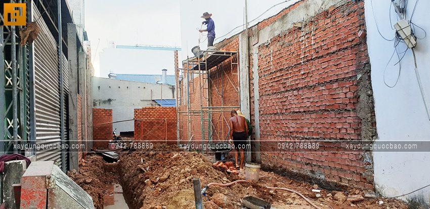 Thi công tầng trệt quán bún Cây Me - Ảnh 2