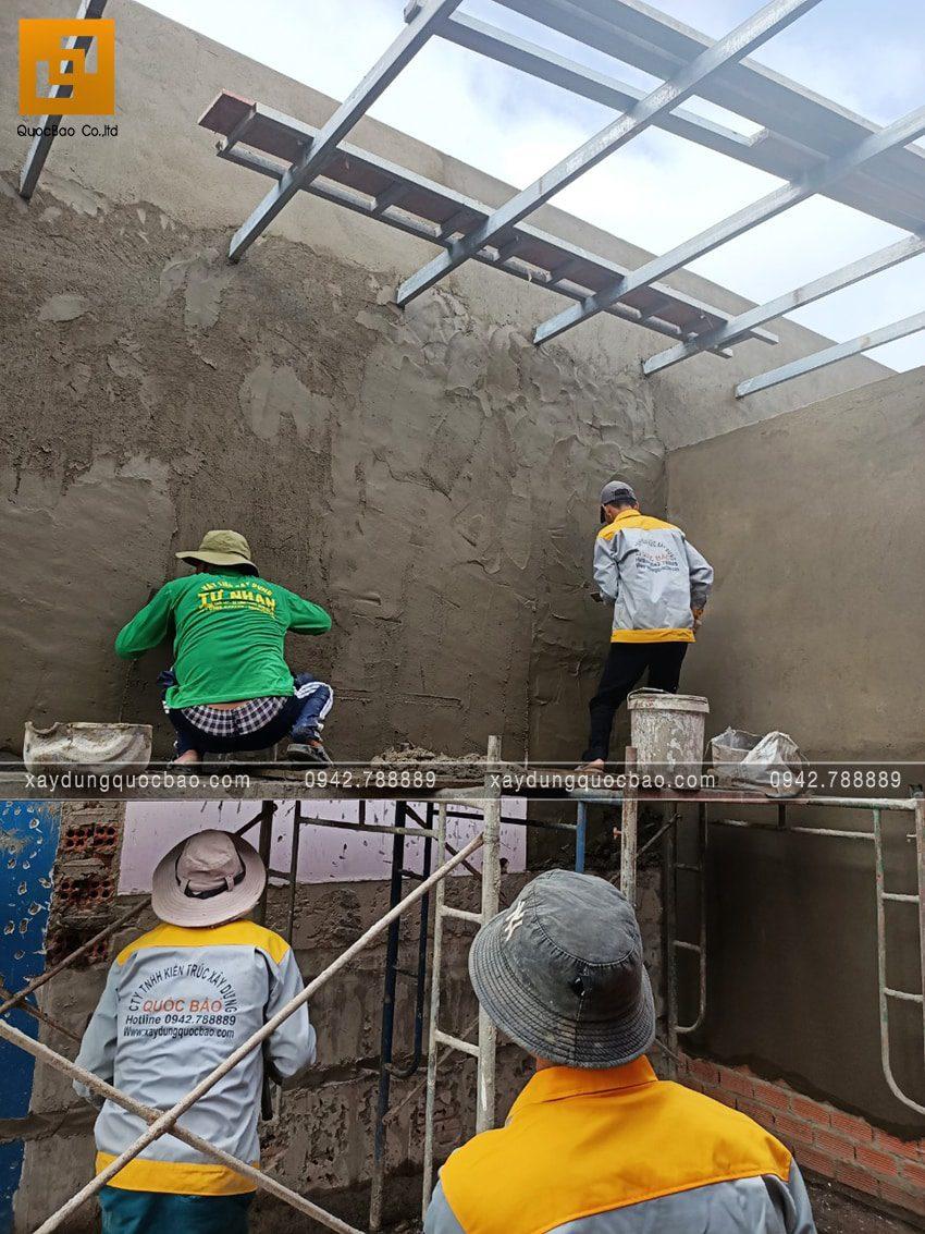 Tô trát xi măng các bức tường trong nhà - Ảnh 2