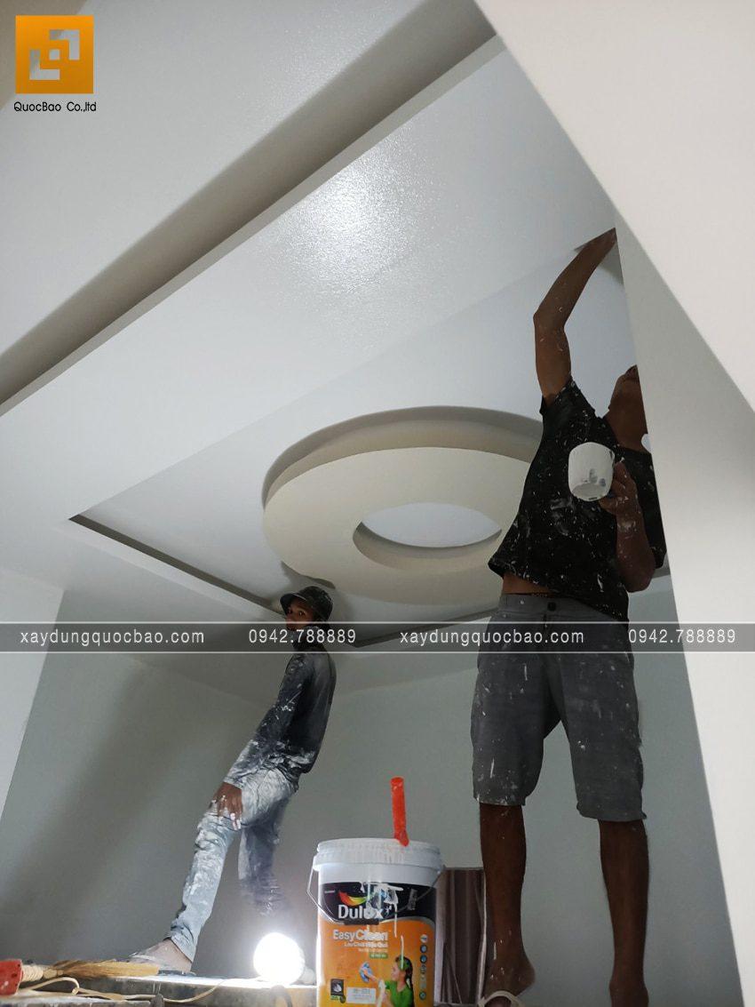 Công tác trát bả matit, lăn sơn nước nội thất - Ảnh 2